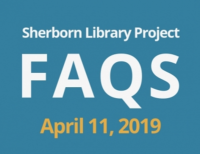 Sherborn Library Construction Update April 2019 Banner Photo