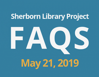 Sherborn Library Construction Update May 2019 Banner Photo