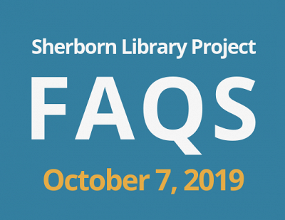 Sherborn Library Construction Project Update October 2019 Banner Photo