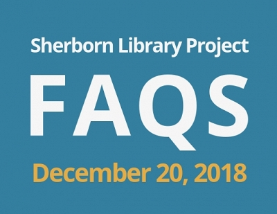Sherborn Library Construction Update December 2018 Banner Photo