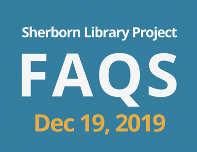 Sherborn Library Construction Project Update December 2019 Banner Photo