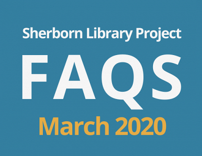 Sherborn Library Construction Project Update March 2020 Banner Photo