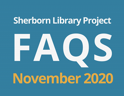 Sherborn Library Construction Project Update November 2020 Banner Photo