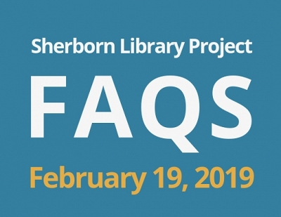 Sherborn Library Construction Update February 2019 Banner Photo
